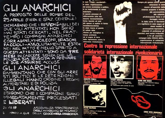 Manifesti realizzati dalla Crocenera anarchica